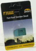 Farish 42544 Pent-roof garden shed - reduced